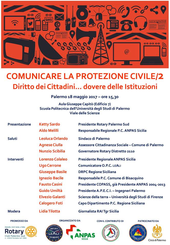 Comunicare la protezione civile